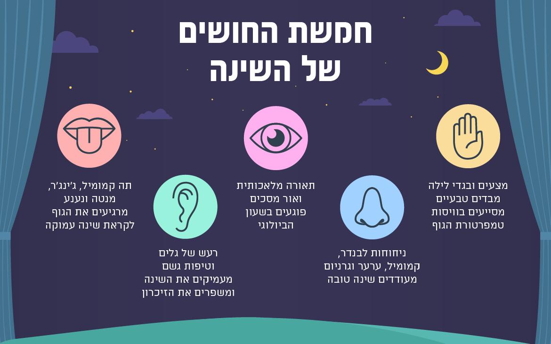 כך תורמים חמשת החושים לשינה טובה באמת